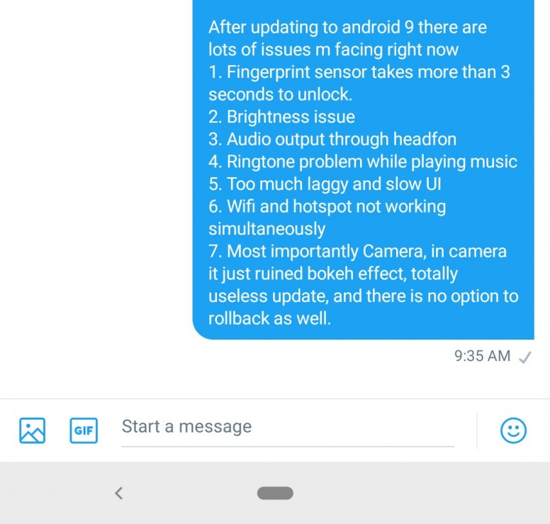 XIAOMI listen up! Please fix this bug filled Android Pie MI
