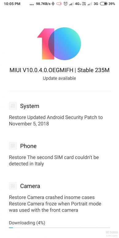 Redmi note 5 10 0 4 0 update - Redmi Note 5 - Mi Community - Xiaomi