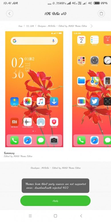 iPhone iOS BoSe MIUI V10 Theme Download For Xiaomi Mobile