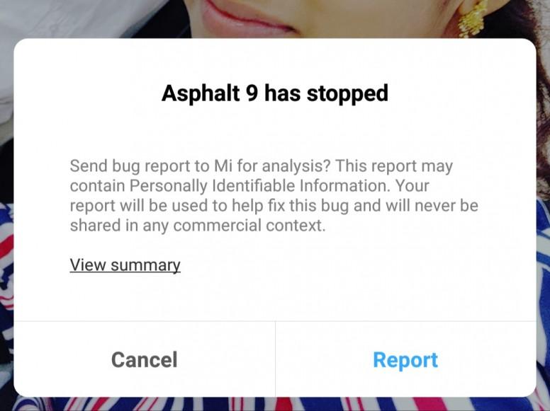 Asphalt 9 error in poco f1 - MIUI Feedback - Mi Community