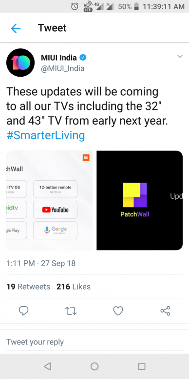 Need Official Announcement for Google Android TV based