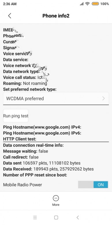 To force a particular network mode on MIUI - Redmi 6 - Mi Community
