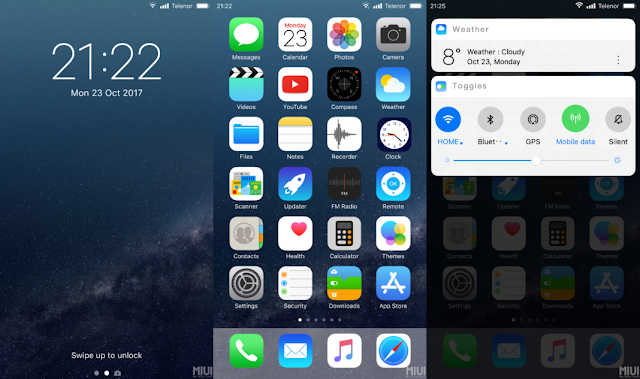 No  1 real ios 12 theme only for miui 10 - Themes - Mi