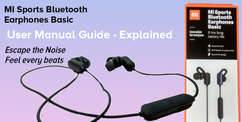 Mi Sports Bluetooth Earphone Basic User Manual Explained Accessories Mi Community Xiaomi