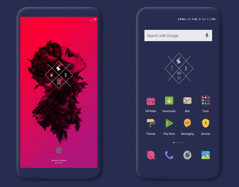 outline dark miui v10 theme download for xiaomi mobile themes mi