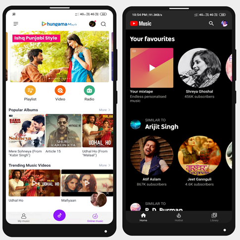 Mi Music Vs YouTube Music: Which one gives you the premium