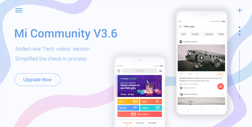 Introducing Mi Community V3.6.1: New 'Tech Videos' section, simplified check-in & more!