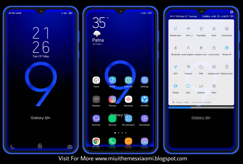 Samsung Dark Material MIUI Theme Download For Xiaomi Mobile - Themes
