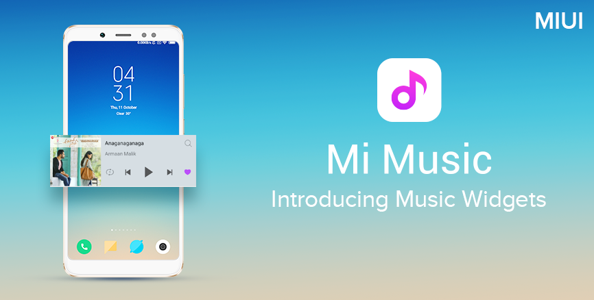 Introducing Music Widgets in Mi Music