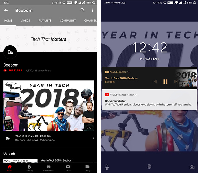 Play YouTube Videos In Background On Android (Guide) - Tech - Mi