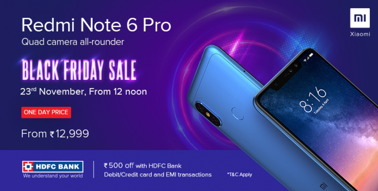 Redmi Note 6 Pro Sale Announcement 23rd November 12 Pm 3 Pm 9
