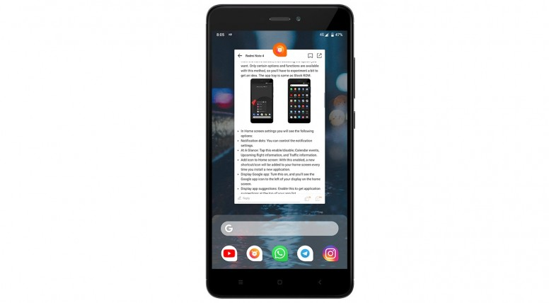 Android Pie Pixel Experience ROM for Redmi Note 4 - Redmi