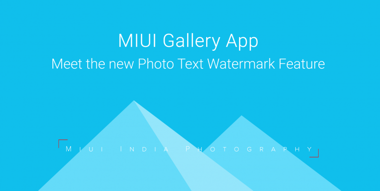 MIUI Weekly Vol 33] MIUI Face Recognition, Text Watermark in