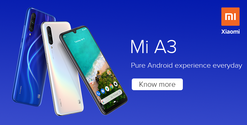 Mi A3 with Android One: Enjoy pure Android experience everyday!