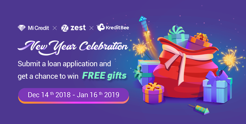 New Year Celebration with Mi Credit: Submit a Loan Application and Win FREE Gifts