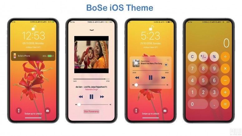 iPhone iOS BoSe V10 MIUI Theme Download For Xiaomi Mobile - Themes