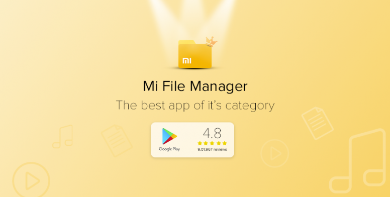 MI File Manager: The best app of its category with 4 8 stars