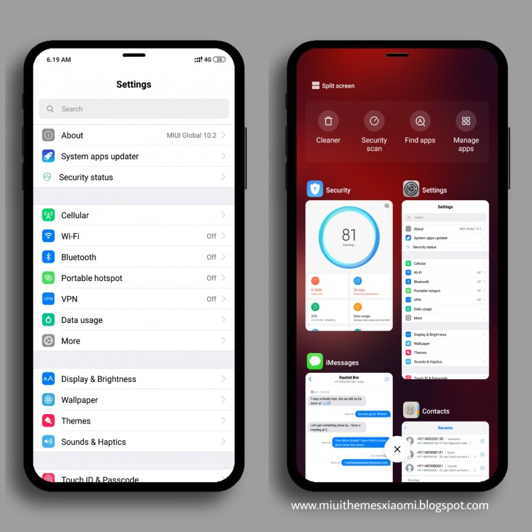 iPhone iOS 11 KW MIUI V10 Theme Download For Xiaomi Mobile