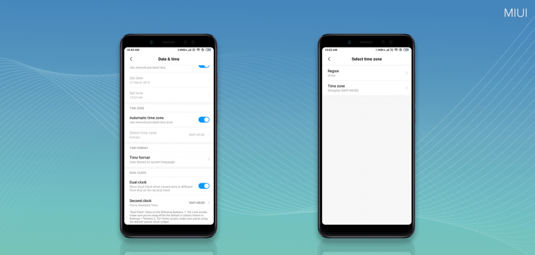 Time of Two Cities, Presenting Dual Clock Feature on MIUI 10