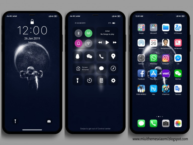 iOS Galaxy Pro MIUI V10 Theme Download For Xiaomi Mobile - Themes