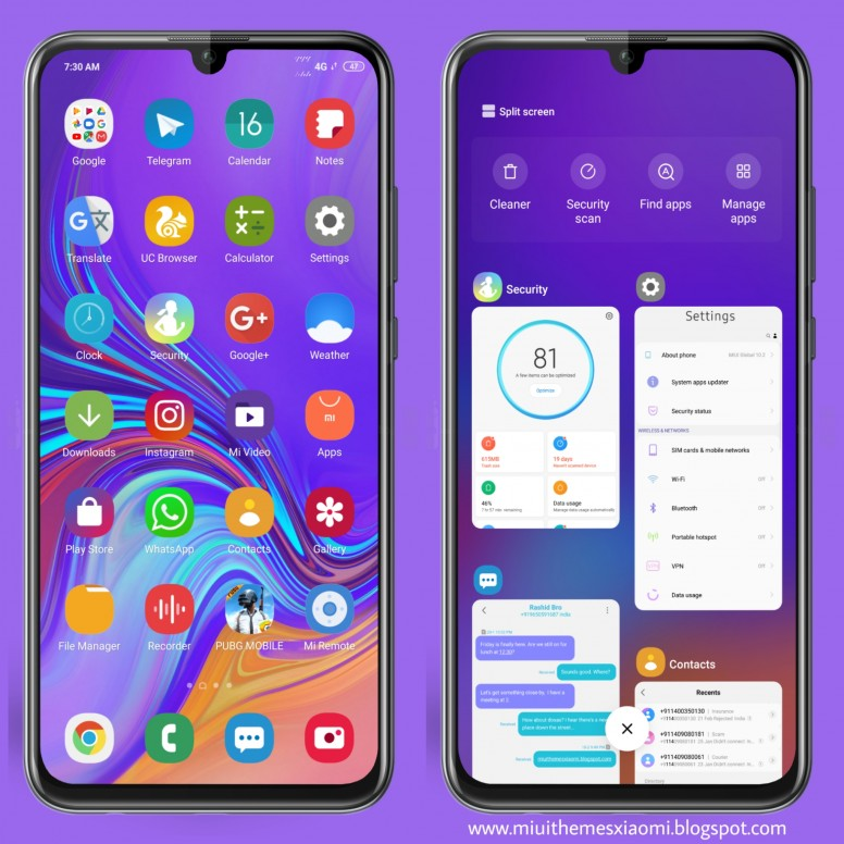 Samsung One UI MIUI V10 Theme Download For Xiaomi Mobile