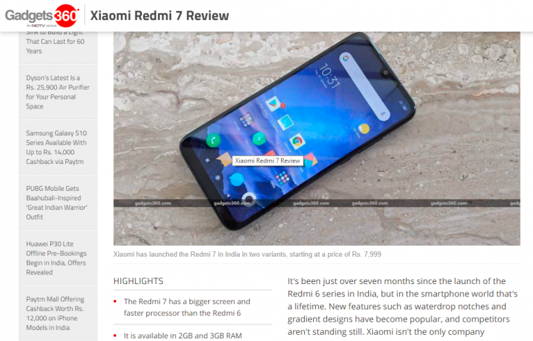 Detailed media review: Redmi 7 - the ultimate all-rounder - Redmi 7